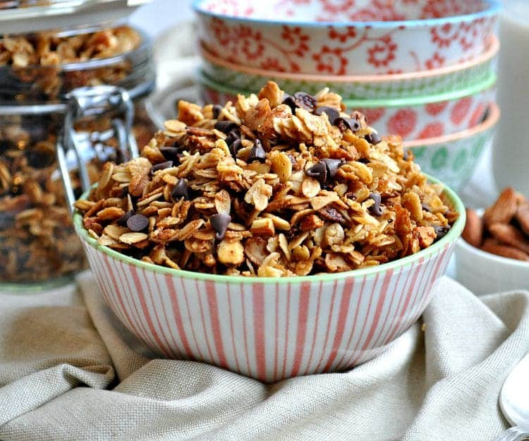 Slow Cooker Salted Caramel Almond Granola 8
