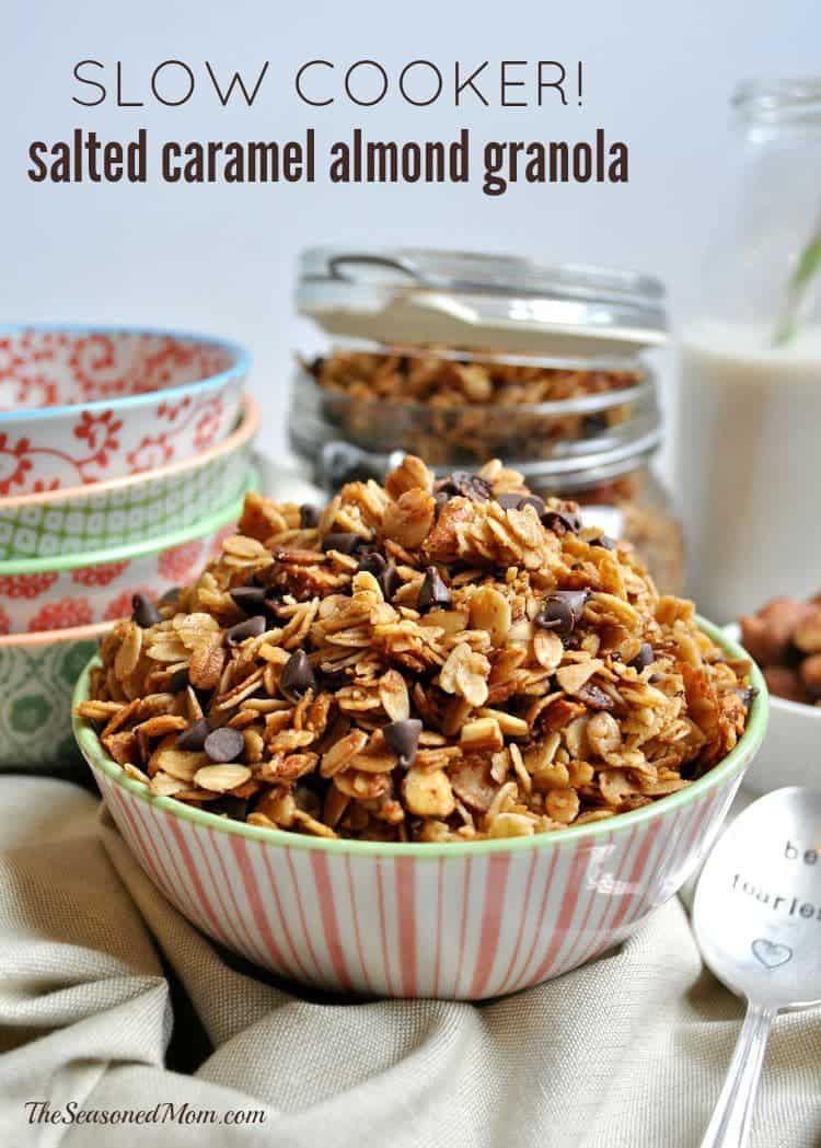 Slow Cooker Salted Caramel Almond Granola TEXT