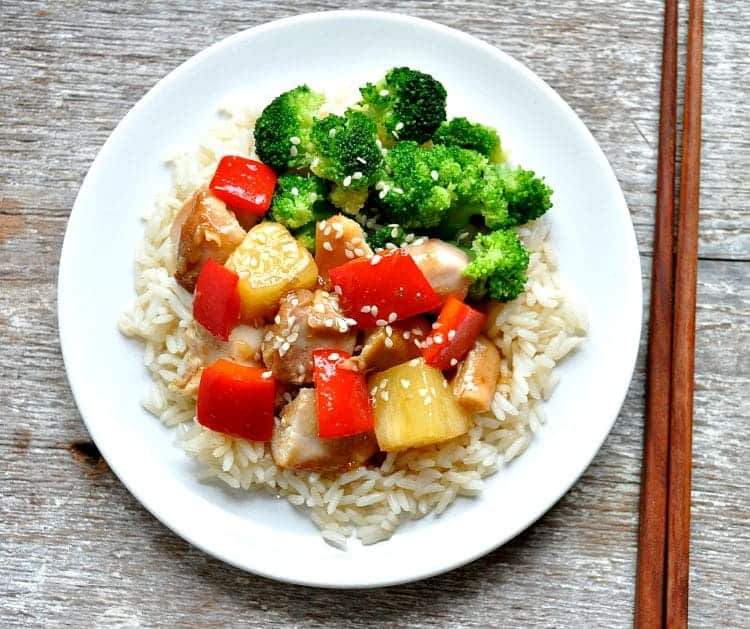 Slow Cooker Sweet and Sour Chicken 8