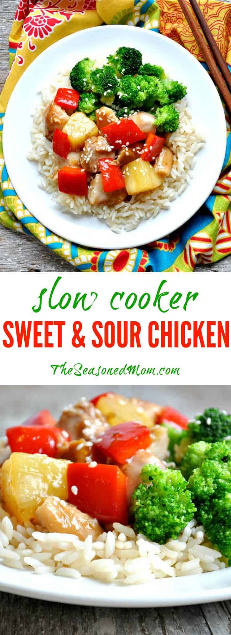Easy Slow Cooker Sweet and Sour Chicken - The Seasoned Mom