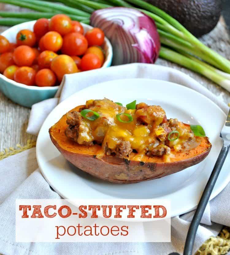 Taco Stuffed Potatoes TEXT