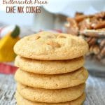 Butterscotch Pecan Cake Mix Cookies