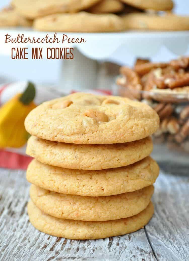 Butterscotch Pecan Cake Mix Cookies - The Seasoned Mom