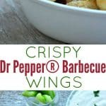 A collage image of Dr Pepper barbecue wings