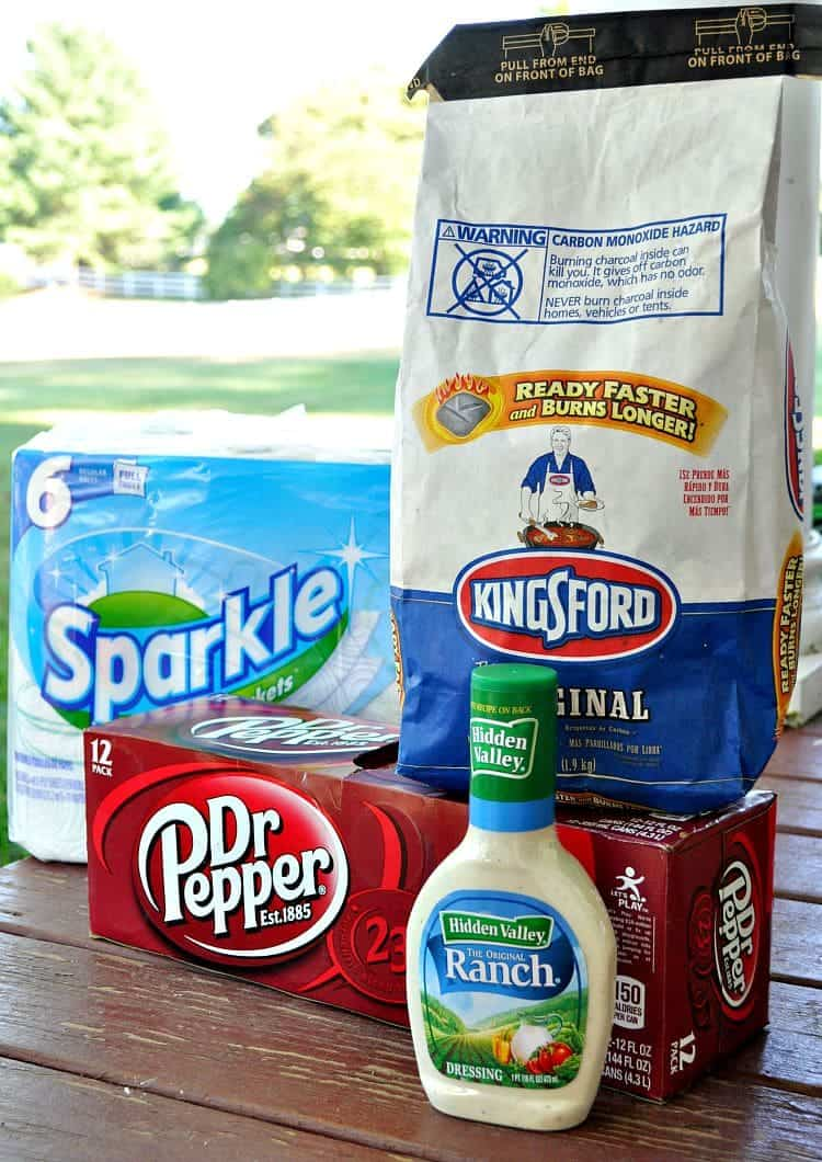 Ingredients for making Crispy Dr. Pepper Barbecue Chicken Wings on a table