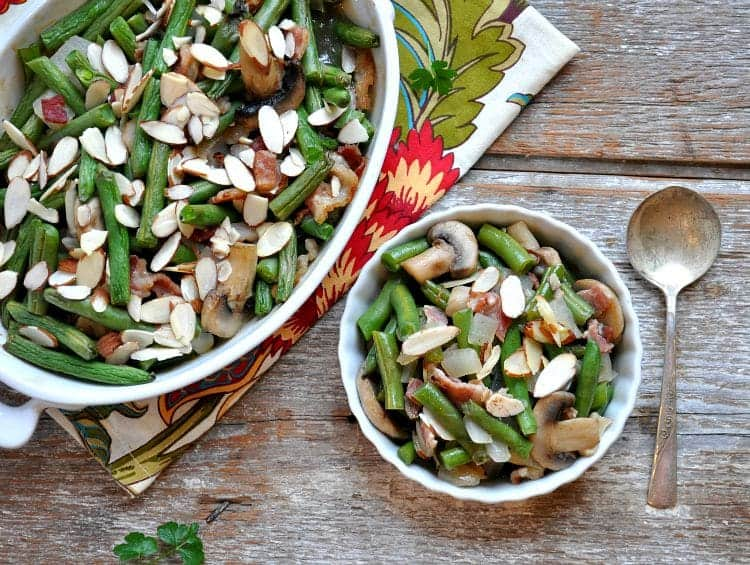 Green Bean Casserole with Bacon and Mushrooms 12