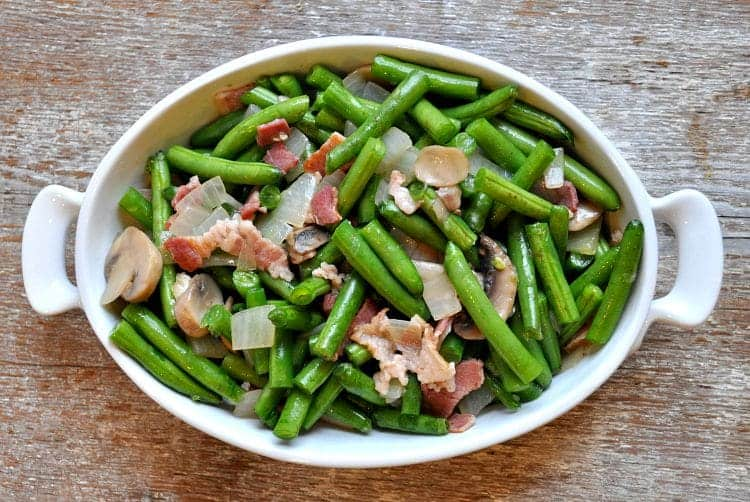 Green Bean Casserole with Bacon and Mushrooms 7