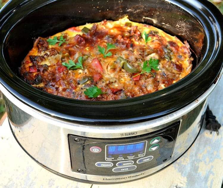 Mile High Slow Cooker Italian Breakfast Casserole 2