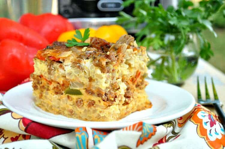 Mile High Slow Cooker Italian Breakfast Casserole 7