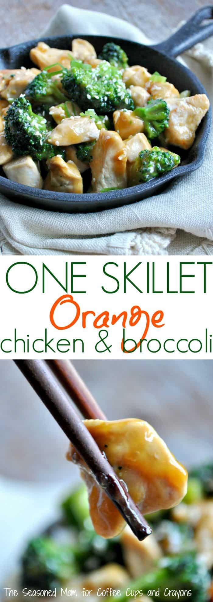 One Skillet Orange Chicken and Broccoli