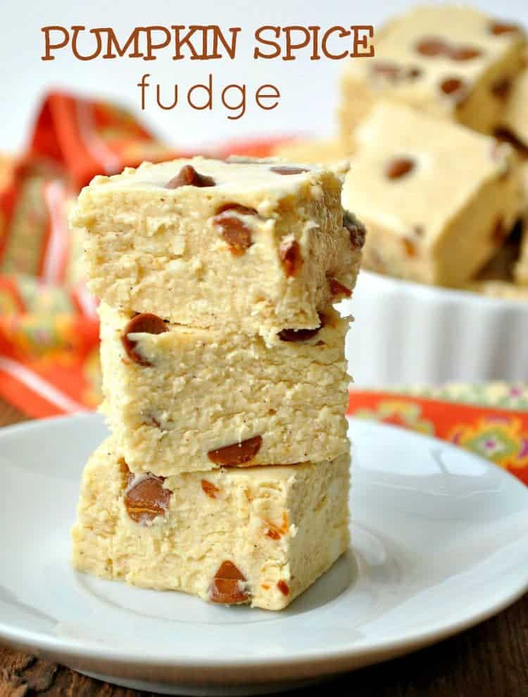Pumpkin Spice Fudge with Cinnamon Chips TEXT