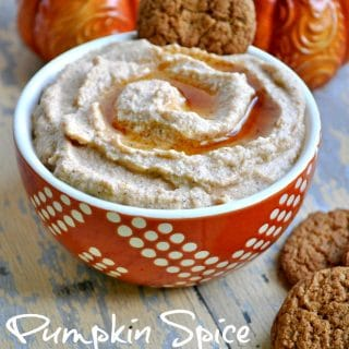 Pumpkin spice whipped ricotta in a small bowl