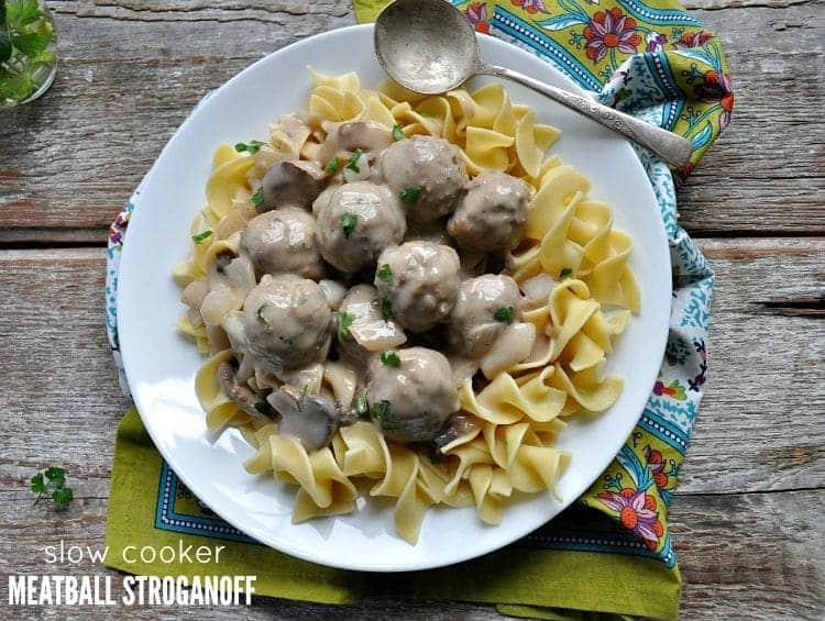 Slow Cooker Meatball Stroganoff TEXT
