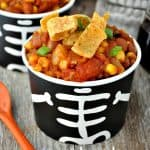 Slow Cooker Pumpkin Chili + Halloween Party Ideas for Adults