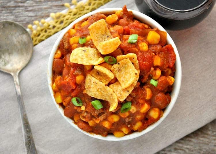 Slow Cooker Red Wine Pumpkin Chili 2