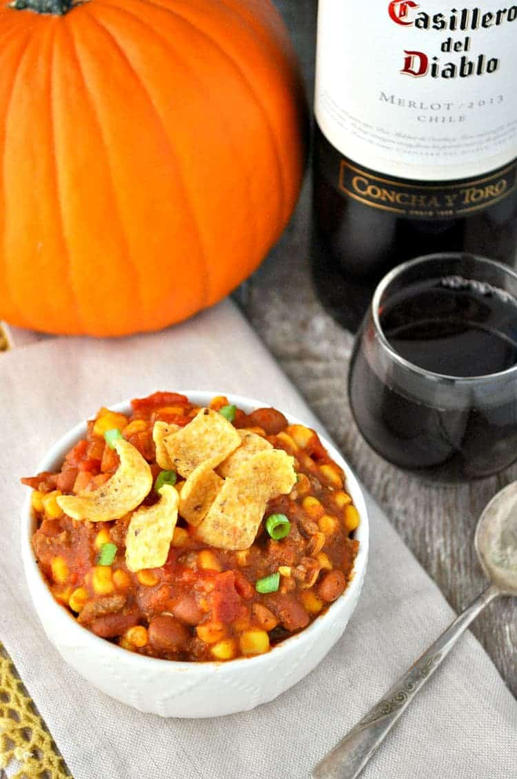 Slow Cooker Red Wine Pumpkin Chili 5