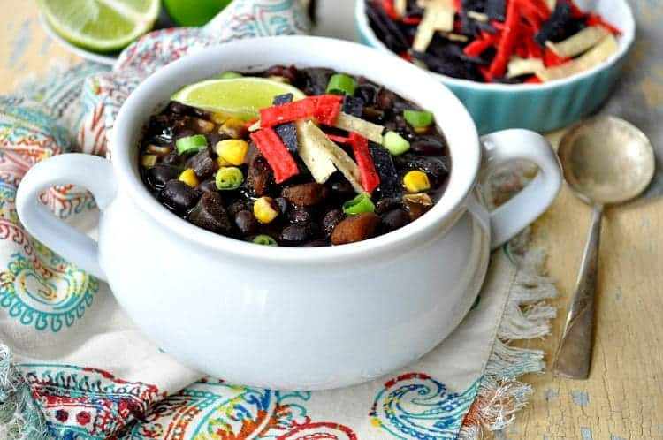 Slow Cooker Southwestern Black Bean Soup 3