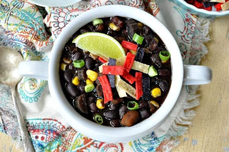 Slow Cooker Southwestern Black Bean Soup 8