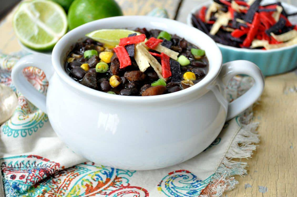 Slow Cooker Southwestern Black Bean Soup FG