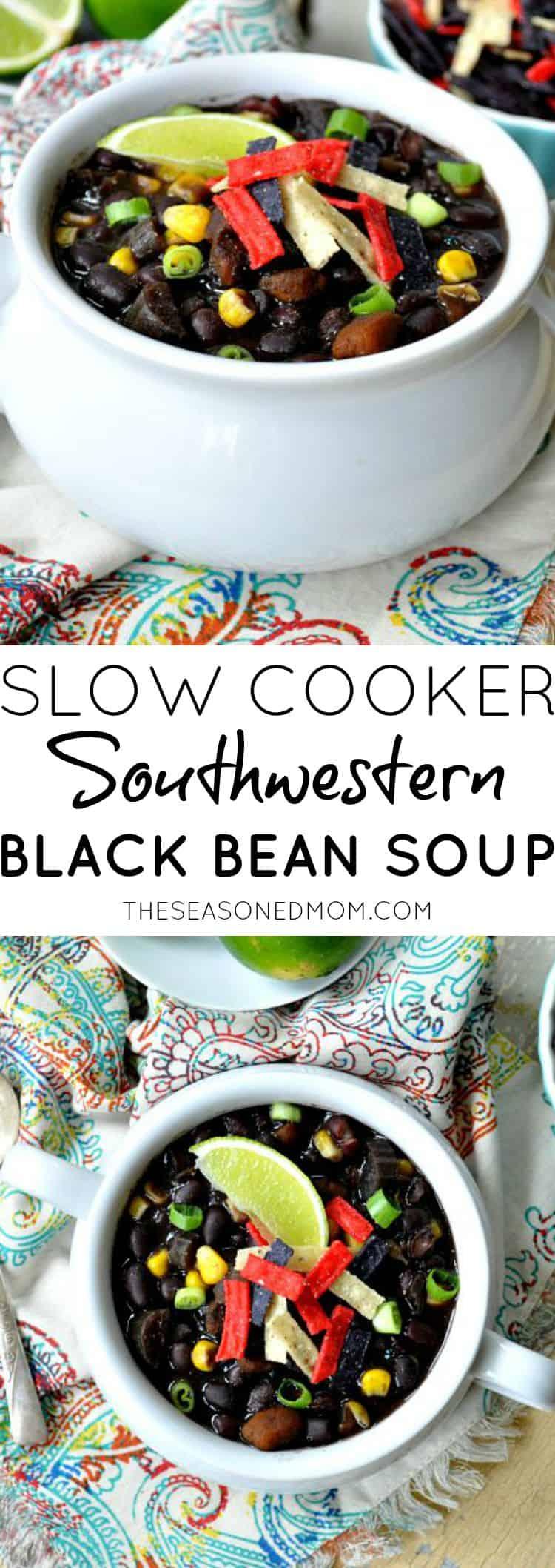 Slow Cooker Southwestern Black Bean Soup