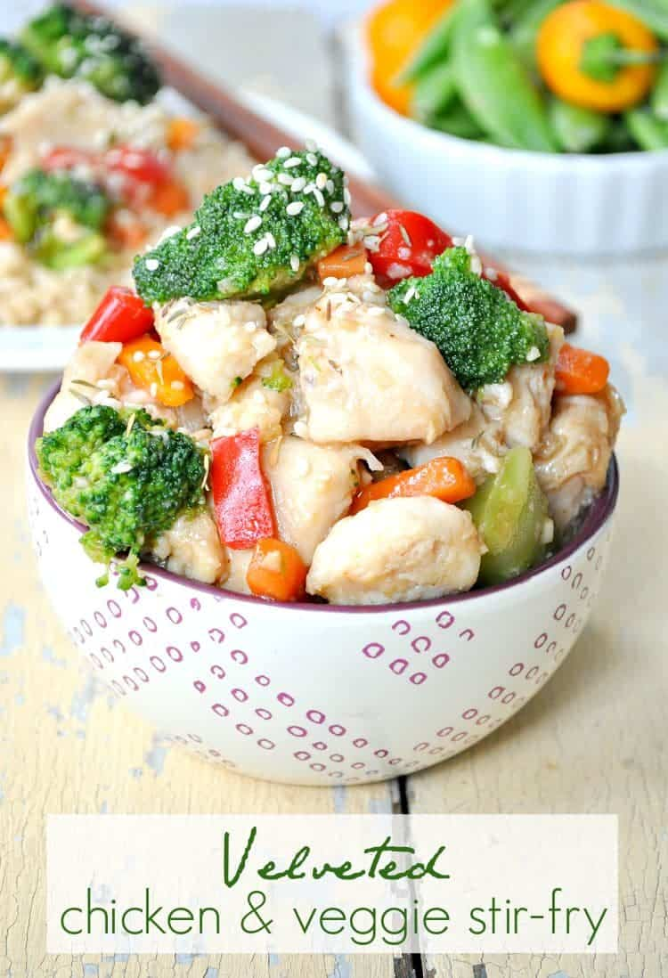 Velveted Chicken & Veggie Stir-Fry TEXT