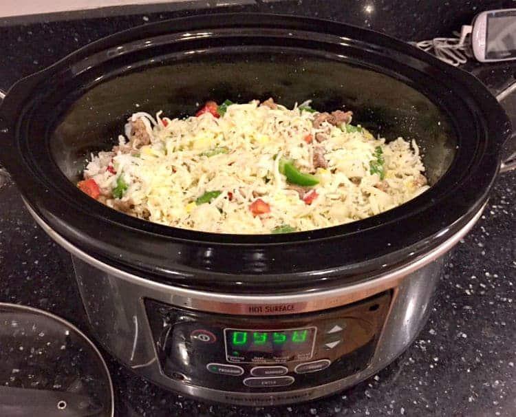 slow cooker italian breakfast casserole prep