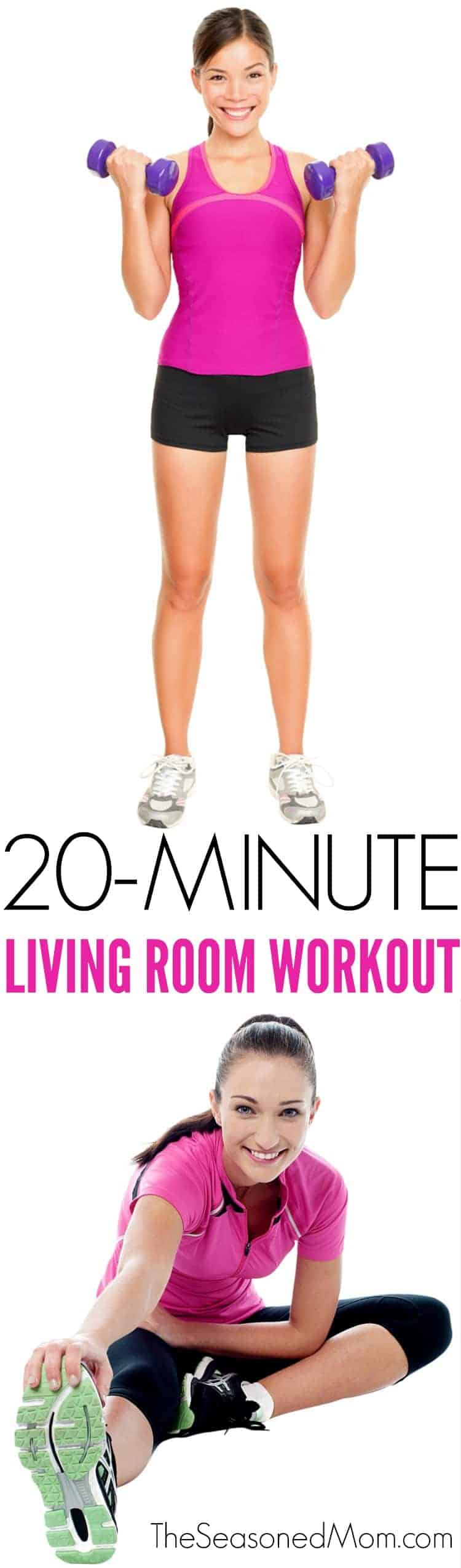20 Minute Living Room Workout - The Seasoned Mom