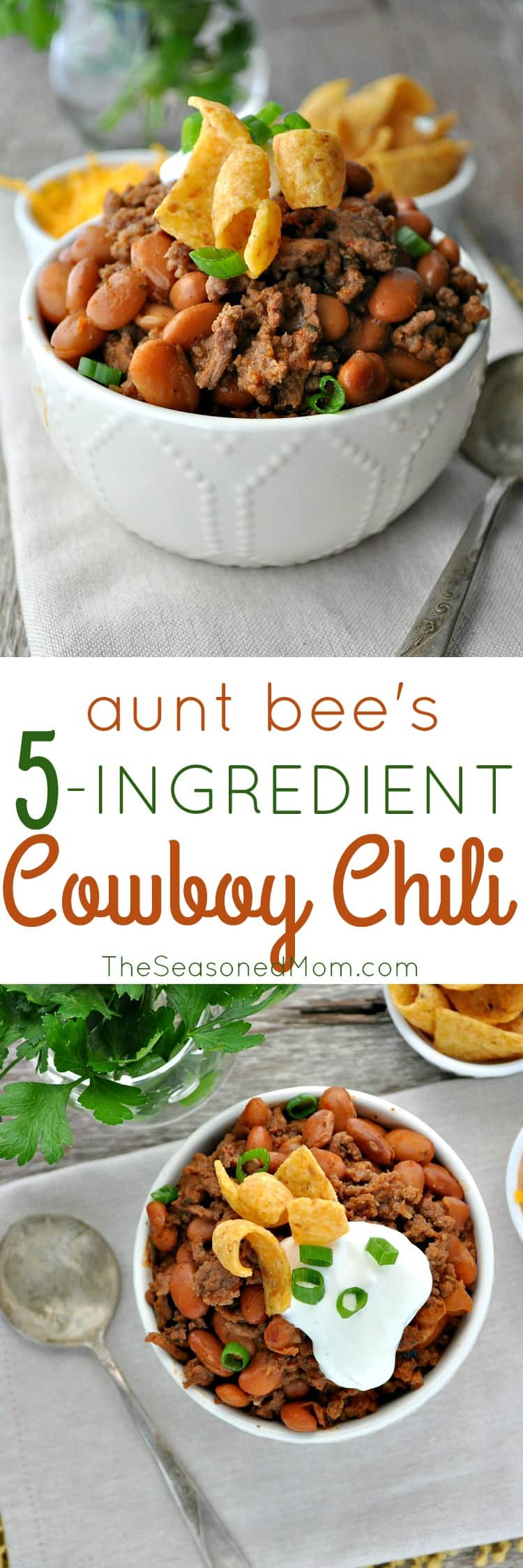 Aunt bee 39 s 5 ingredient cowboy chili the seasoned mom for Cuisine 5 ingredients