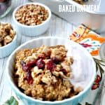 Crumb-Topped Cranberry Baked Oatmeal