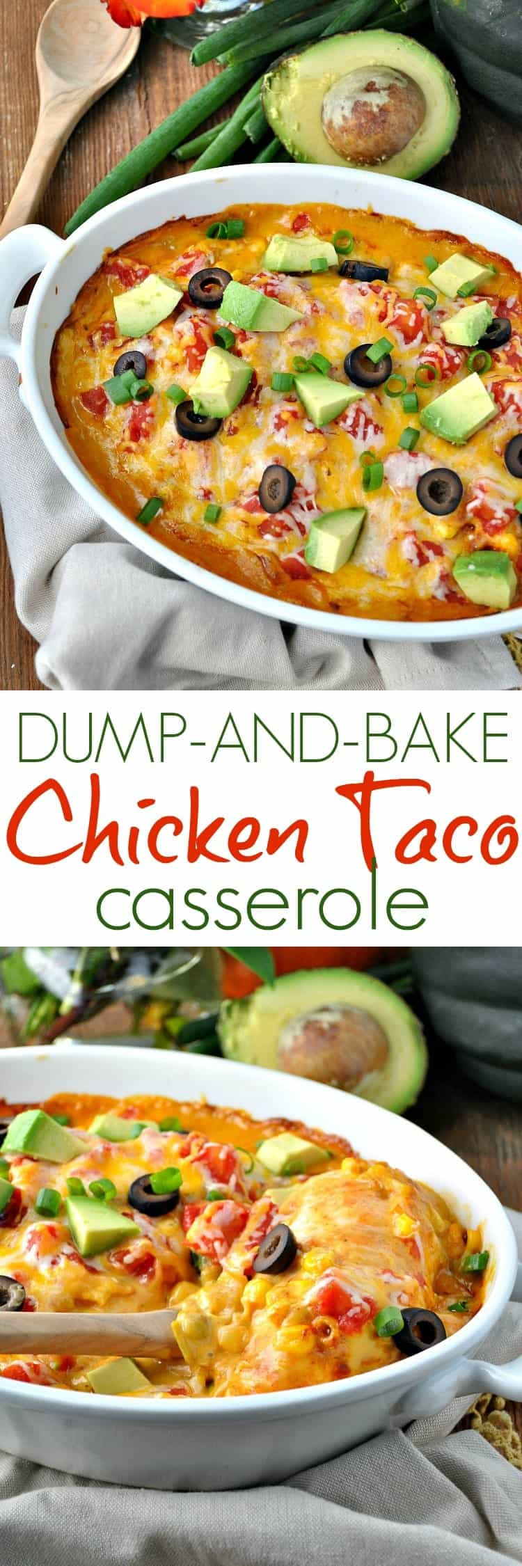 Dump and Bake Chicken Taco Casserole