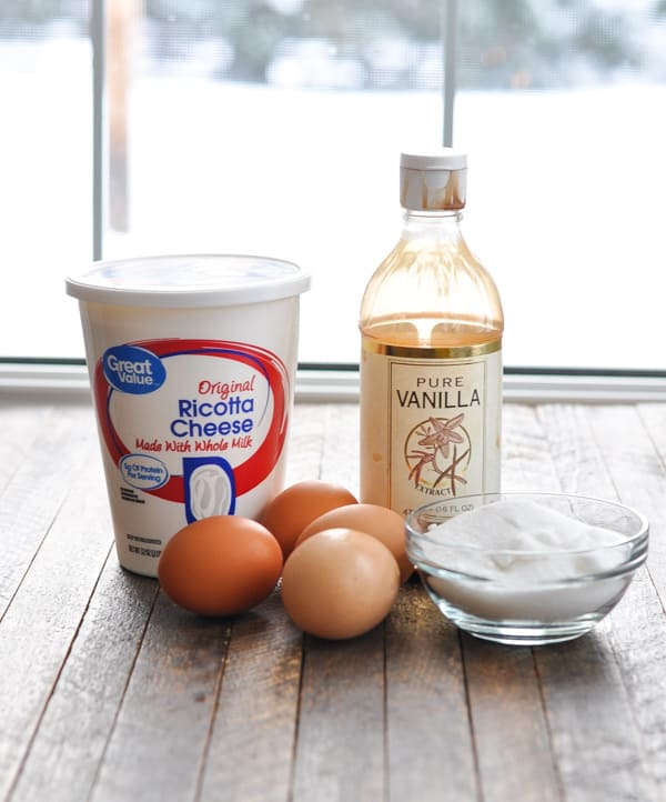 Ingredients for ricotta layer