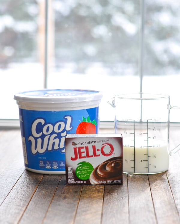 Ingredients for whipped pudding frosting