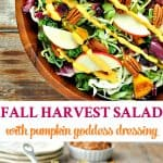 Healthy Thanksgiving Side Dish recipe for Fall Harvest Salad