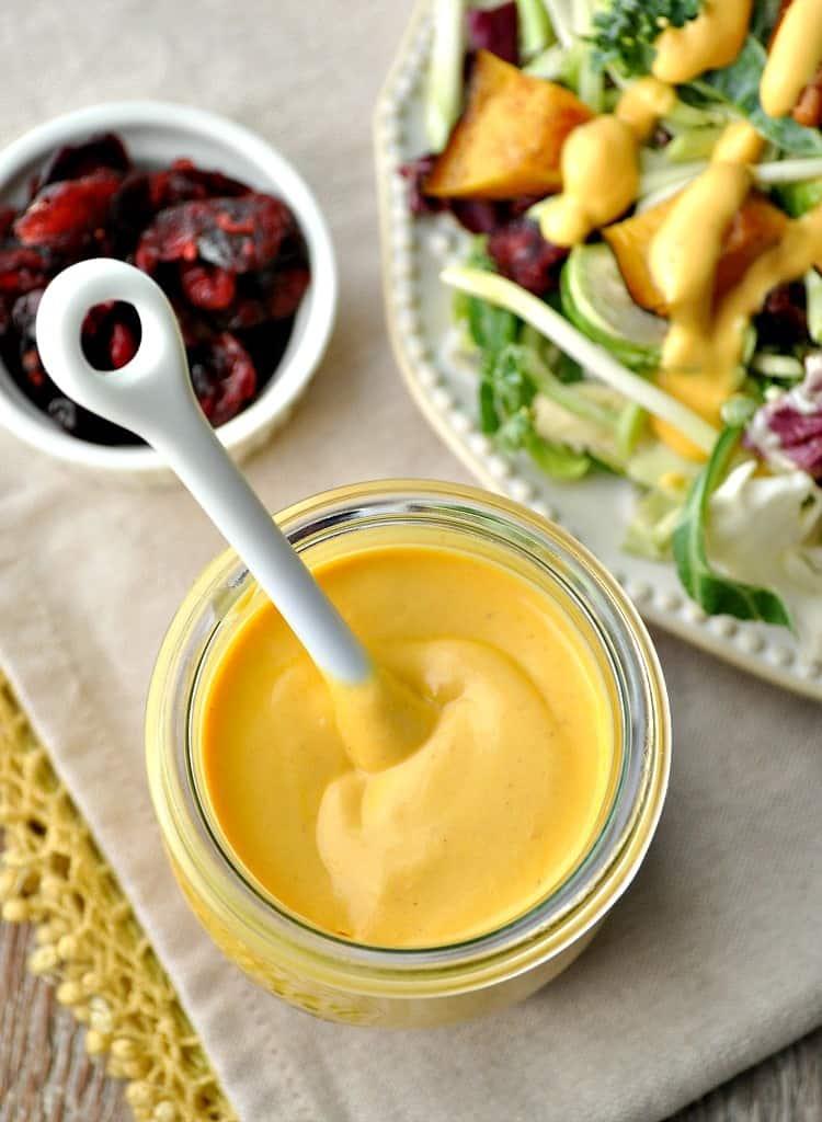 Healthy Salad Dressing Recipe with Pumpkin