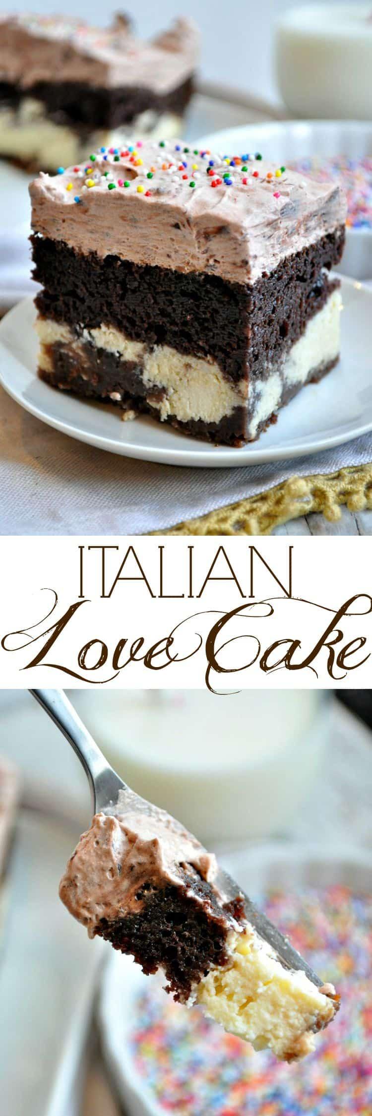 Chocolate Love Cake Images : Easy Chocolate Italian Love Cake - The Seasoned Mom