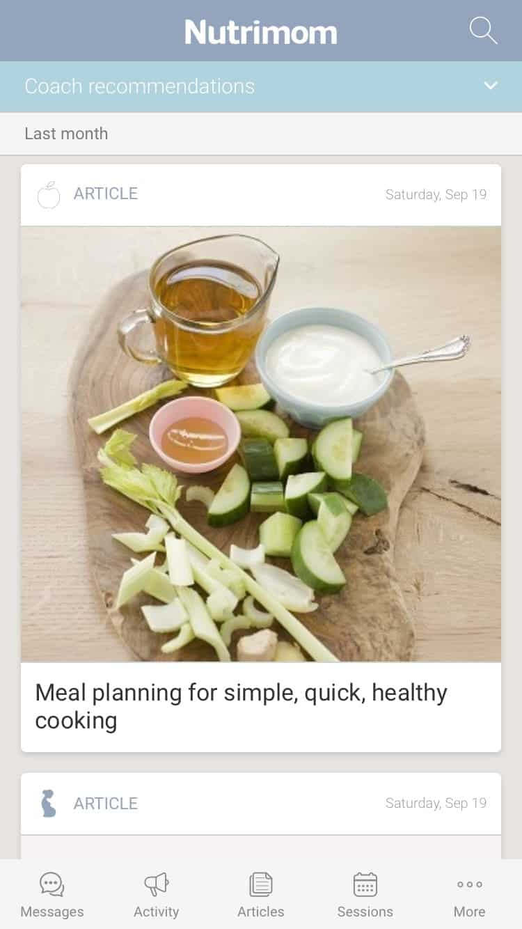 Nutrimom Nutrition Article