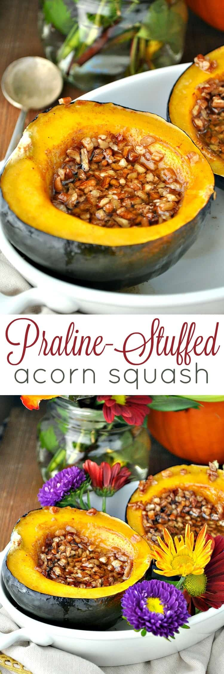 Praline Stuffed Acorn Squash