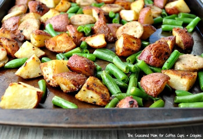 Sheet Pan Supper Sausage Potato Green Beans 4