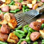 Sheet Pan Supper: Sausage, Green Beans & Crispy Potatoes