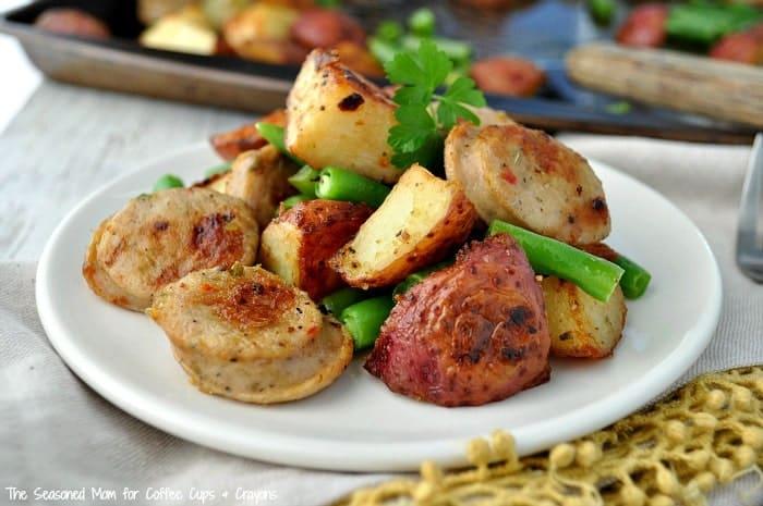 Sheet Pan Supper Sausage Potato Green Beans 8