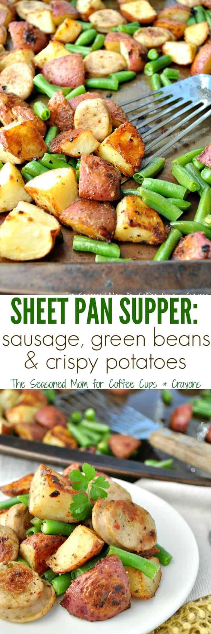 Sheet Pan Supper Sausage Potato Green Beans
