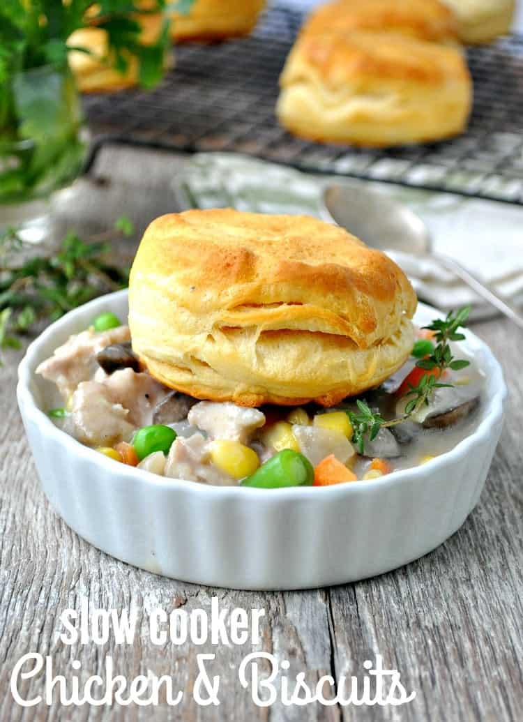 Slow Cooker Chicken and Biscuits TEXT