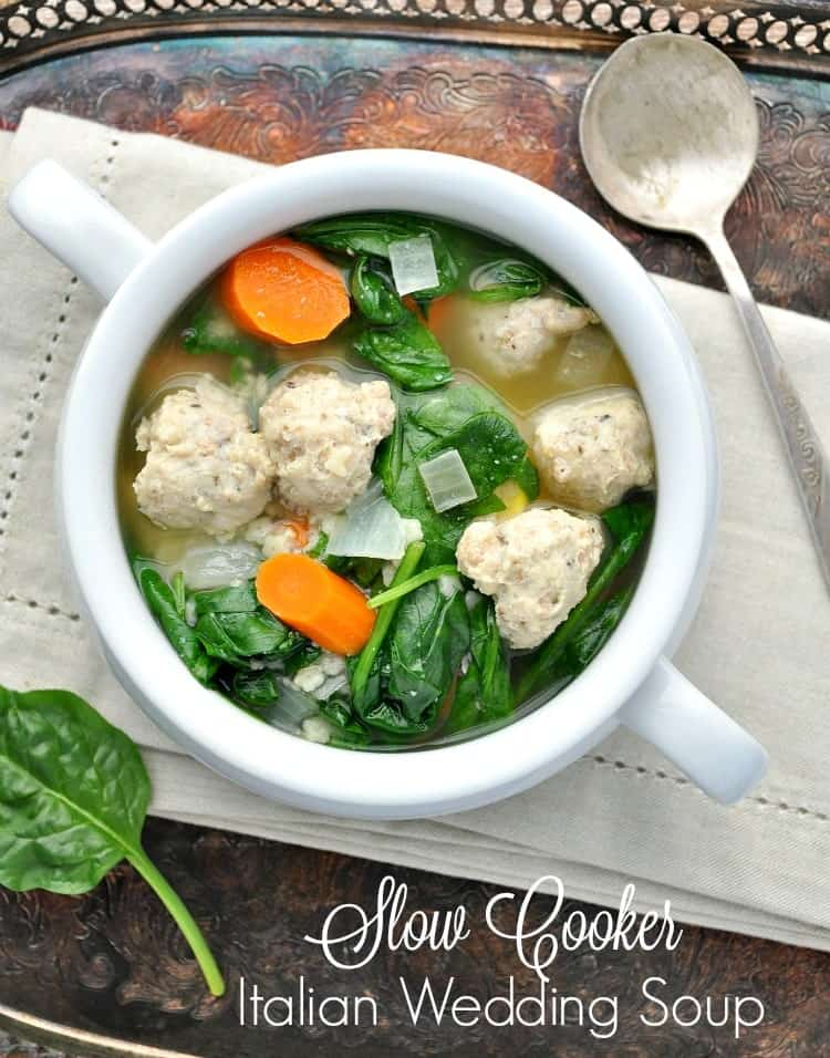 Slow Cooker Italian Wedding Soup TEXT