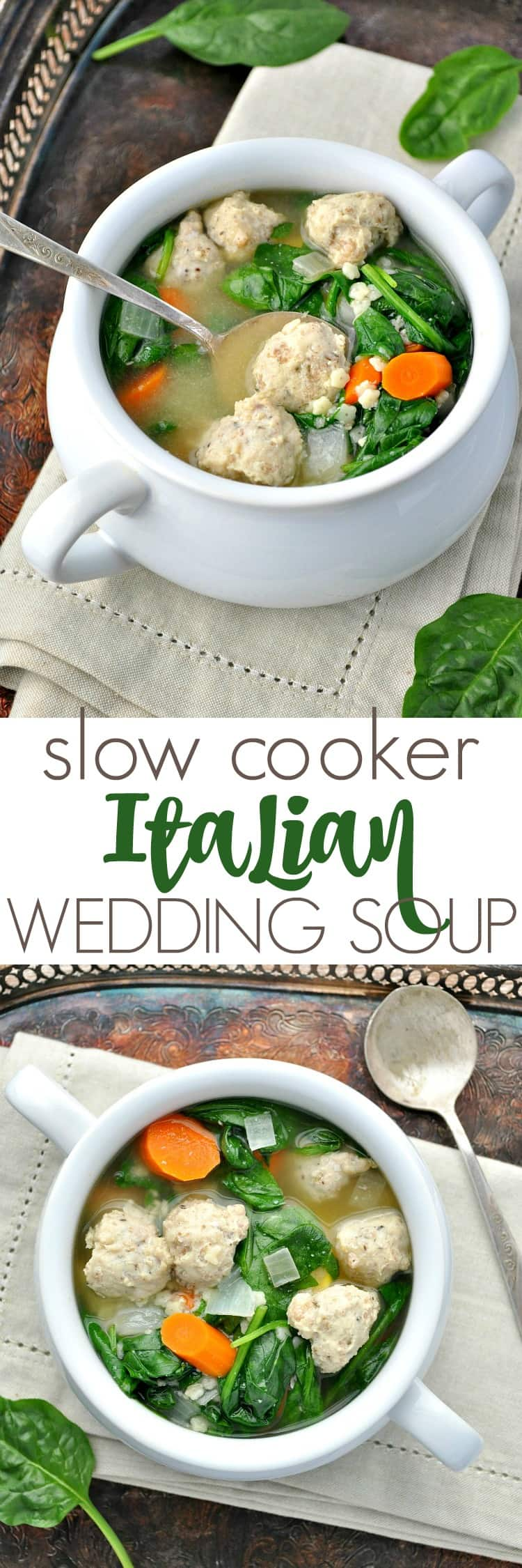 tender pasta, and fresh veggies, this Slow Cooker Italian Wedding Soup ...