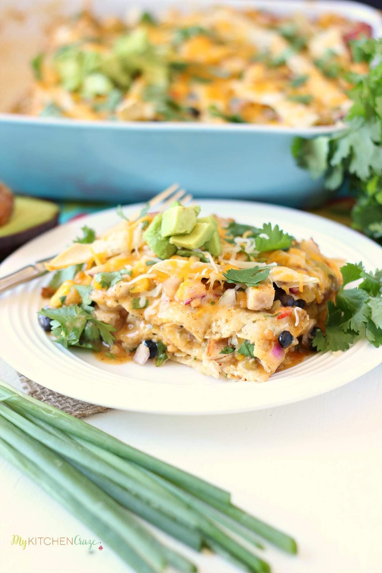 Southwest Chicken Tortilla Bake