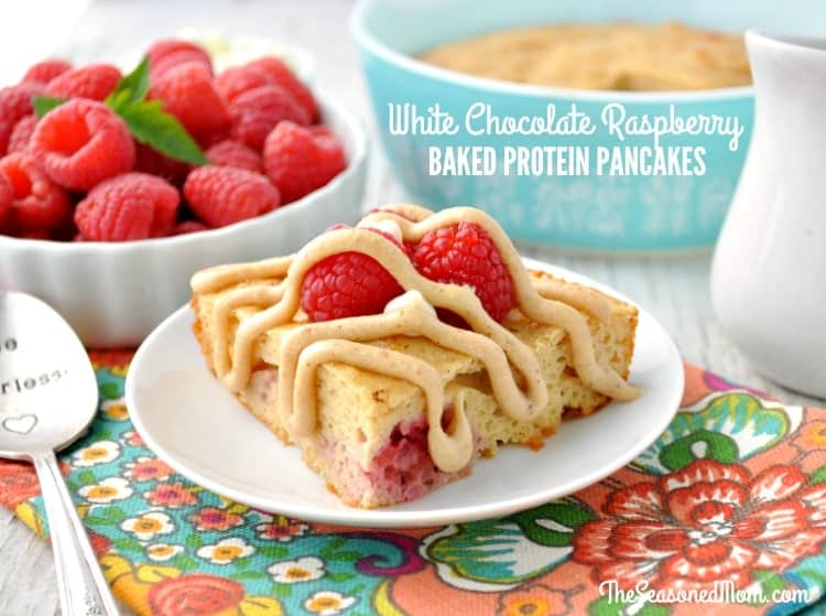 White Chocolate Raspberry Baked Protein Pancakes {and other Tasty Protein-Packed Options!}