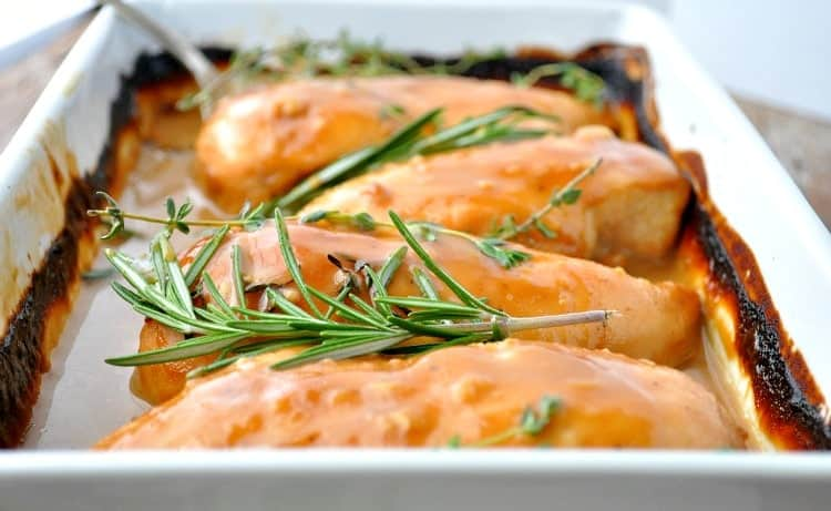 "The name says it all! This ""No Work"" Baked Chicken is an easy dinner recipe that everyone loves!"