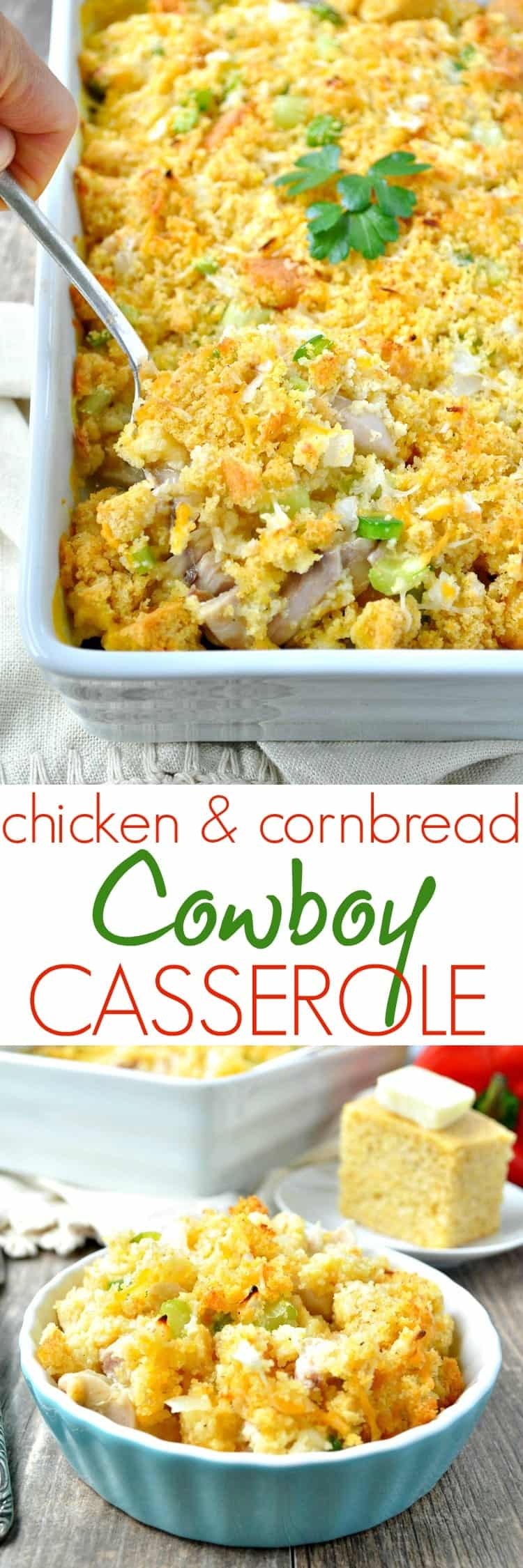 Chicken cornbread cowboy casserole the seasoned mom chicken and cornbread cowboy casserole is a hearty and easy comfort food dinner to feed your forumfinder Choice Image
