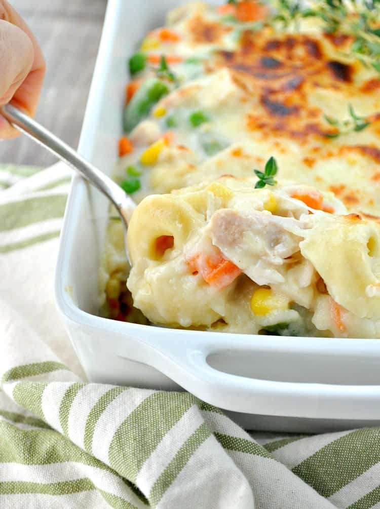 Chicken and Veggie Tortellini Casserole