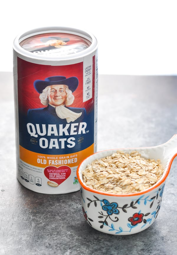 Quaker oats for oatmeal cookie recipe